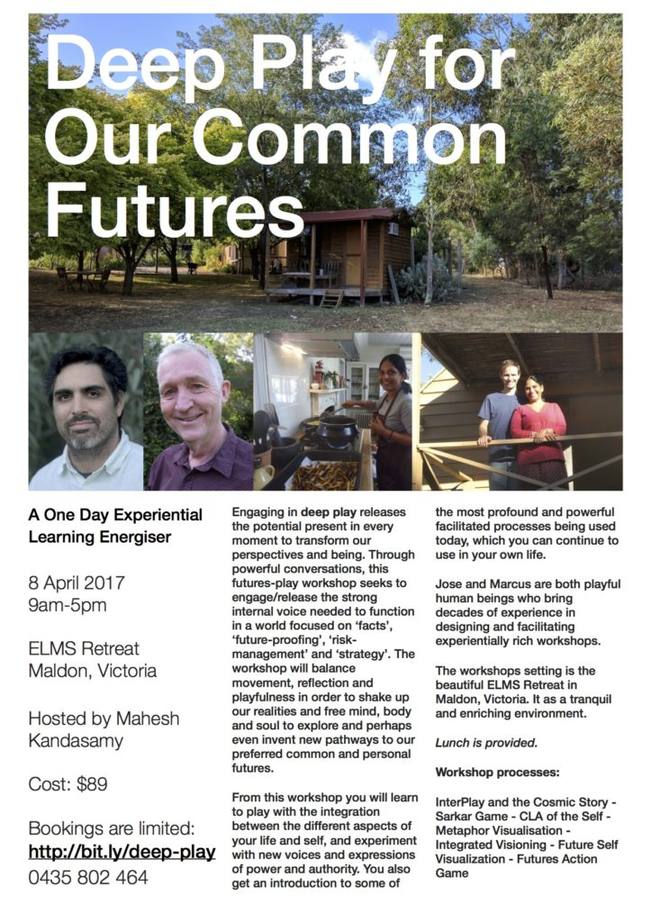 Deep Play for Our Common Futures flyer